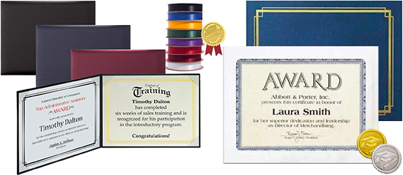 Certificate Holders and Accessories