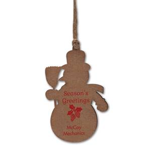 Snowman Balsa Wood Ornament