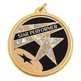 Star Performer Holographic Medallion