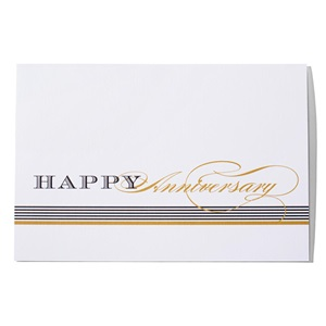 Stripes Happy Anniversary Greeting Card