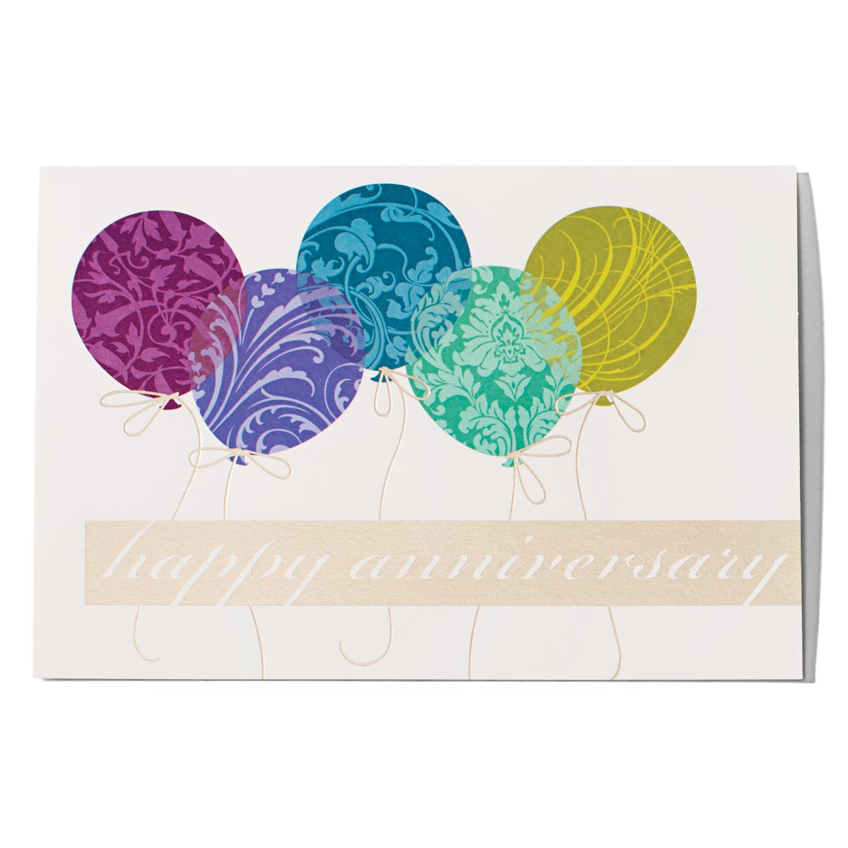 Balloons Happy Anniversary Greeting Card Paperdirects