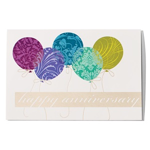 Balloons Happy Anniversary Greeting Card
