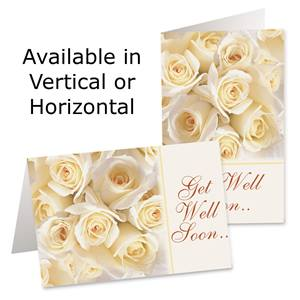 Cream Roses Custom Greeting Cards