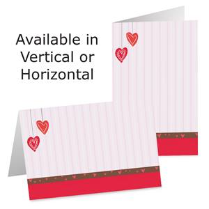 Heart Stripes Photo Greeting Cards