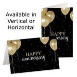 Gold Balloons Custom Greeting Cards