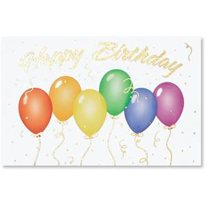 Birthday Balloons II Deluxe Greeting Cards