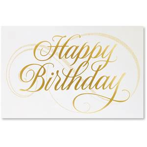 Birthday Flourish Deluxe Greeting Cards