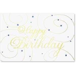 Swirls Birthday Greeting Card Set