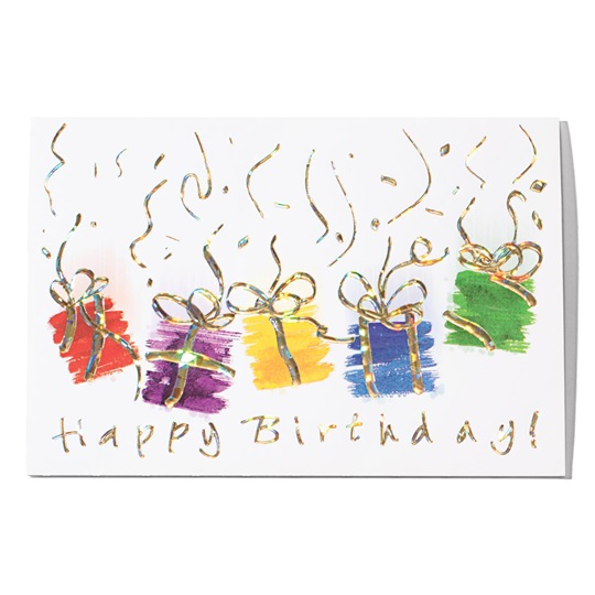 Holographic Happy Birthday Greeting Card | PaperDirect's