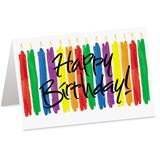 Candles Happy Birthday Custom Greeting Cards