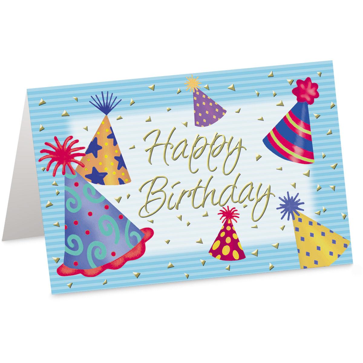 Birthday Hats Custom Greeting Cards Paperdirects