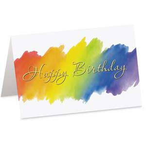 Rainbow Birthday Custom Greeting Cards