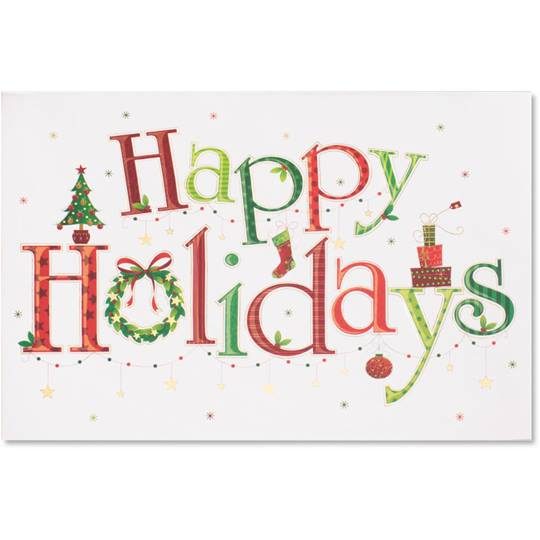 Unique Boxed Christmas Cards.Happy Holidays Boxed Greeting Cards Paperdirect S