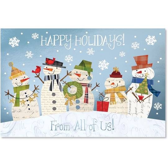 Whimsy From Us All Deluxe Holiday Cards | PaperDirect's