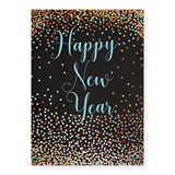 Happy New Year Dots Deluxe Greeting Card