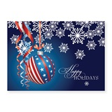 Patriotic Ornament Classic Holiday Greeting Cards