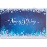 Snowy Glow Classic Greeting Card