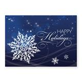 Twilight Snowflake Deluxe Holiday Greeting Cards