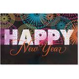 Sparkling New Year Deluxe Greeting Card