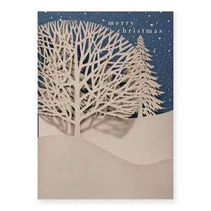 Christmas Treeline Premium Greeting Card