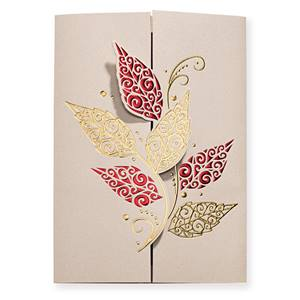Ornate Leaves Elite Greeting Card