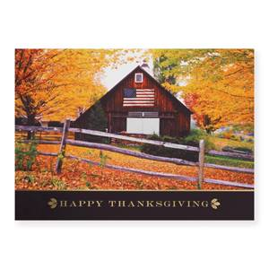 American Thanksgiving Deluxe Holiday Greeting Cards