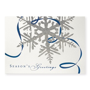 Seasonal Sparkle Deluxe Holiday Greeting Card