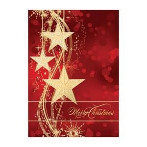 Glitzy Stars Elite Holiday Greeting Cards