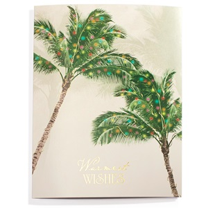 Holiday Palms Deluxe Greeting Card