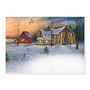 Country Holiday Deluxe Holiday Greeting Cards