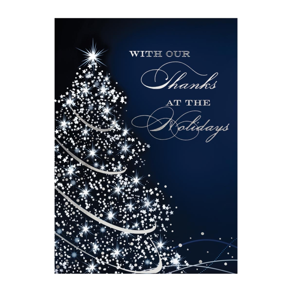 Starry Tree Deluxe Holiday Greeting Cards | PaperDirect\'s