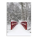 Snowy Bridge Deluxe Holiday Greeting Cards