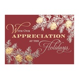 Appreciation Boughs Deluxe Holiday Greeting Cards