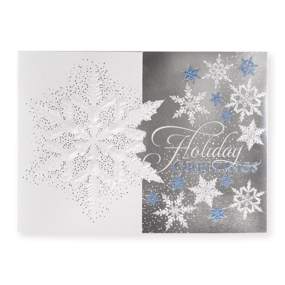 Subtle snowflake elite holiday greeting cards paperdirects subtle snowflake elite holiday greeting cards m4hsunfo