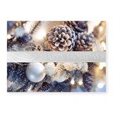 Silver Pine Cones Deluxe Holiday Greeting Cards