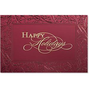 Holiday Celebration Deluxe Greeting Card