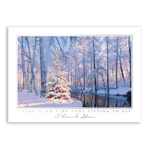Woodland Sparkle Deluxe Holiday Greeting Cards