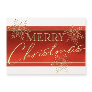 Merry christmas flakes deluxe holiday greeting cards paperdirects merry christmas flakes deluxe holiday greeting cards m4hsunfo