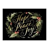 Holly Day Wreath Classic Holiday Greeting Cards