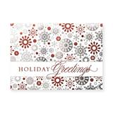 Magical Snowflakes Deluxe Holiday Greeting Cards