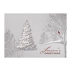 Seasonal Silver Deluxe Holiday Greeting Cards