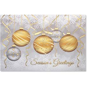 Golden Ornaments Deluxe Greeting Card