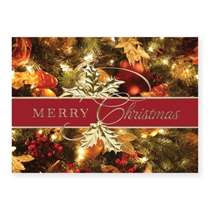 Herald Ribbon Deluxe Holiday Greeting Cards