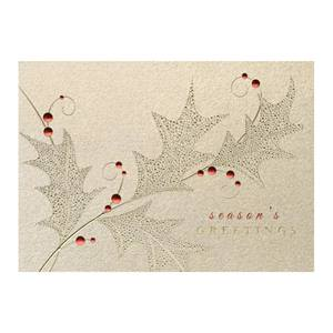 Season's Leaves Deluxe Holiday Greeting Cards