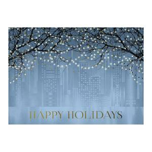 Shimmering Lights Deluxe Holiday Greeting Card