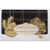 Plaid Christmas Deluxe Greeting Card