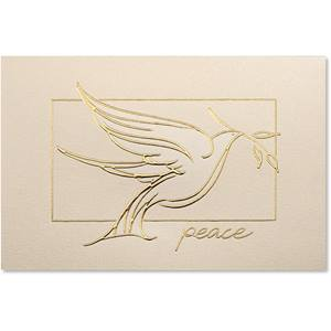 Serenity Dove Deluxe Greeting Card