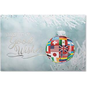 Ornament of Flags Deluxe Greeting Card