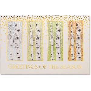 Birch Tree Seasons Deluxe Greeting Card