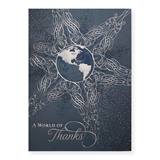 A World of Thanks Deluxe Greeting Card